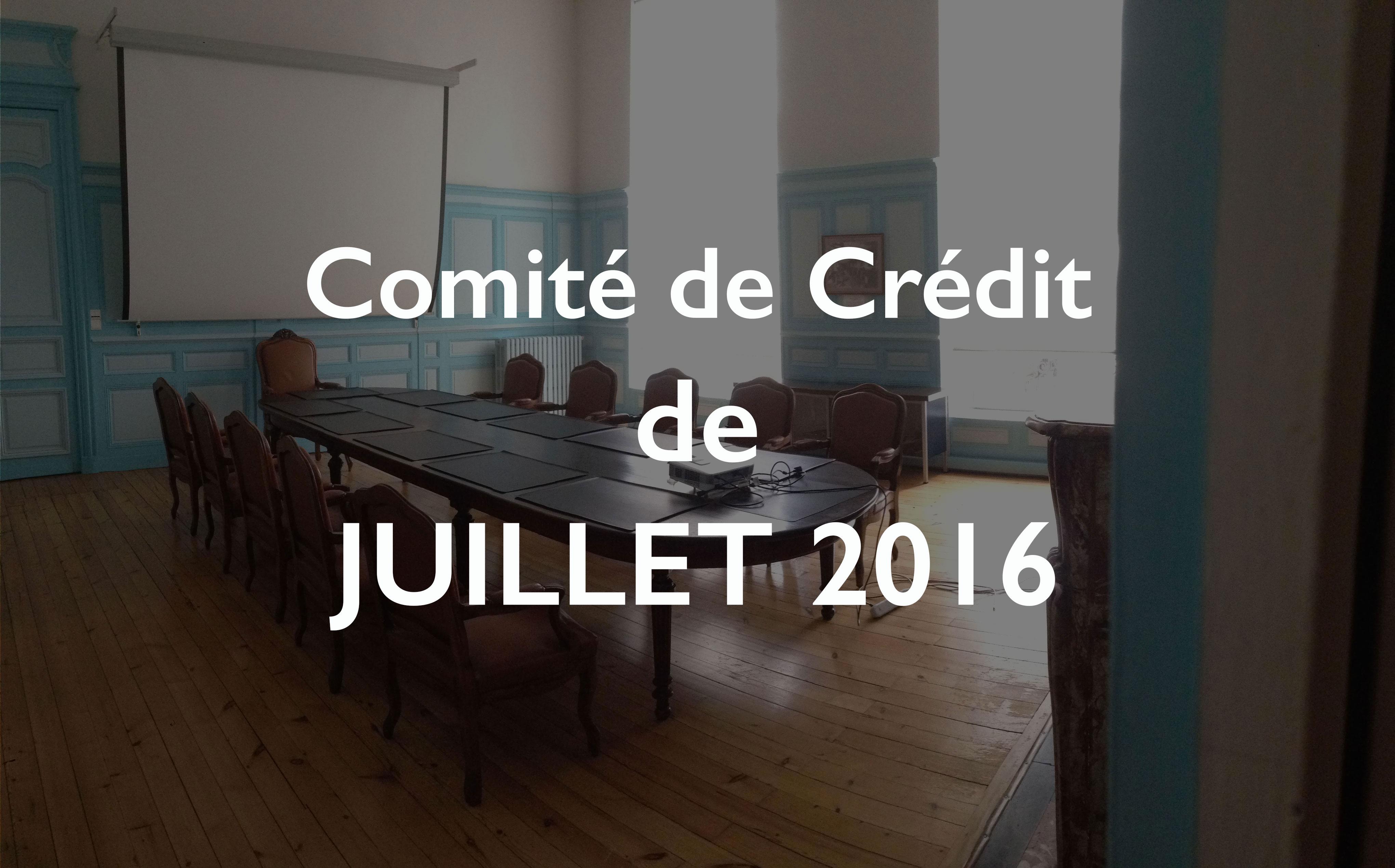 Illustration du Comité de Crédit de Juillet 2016