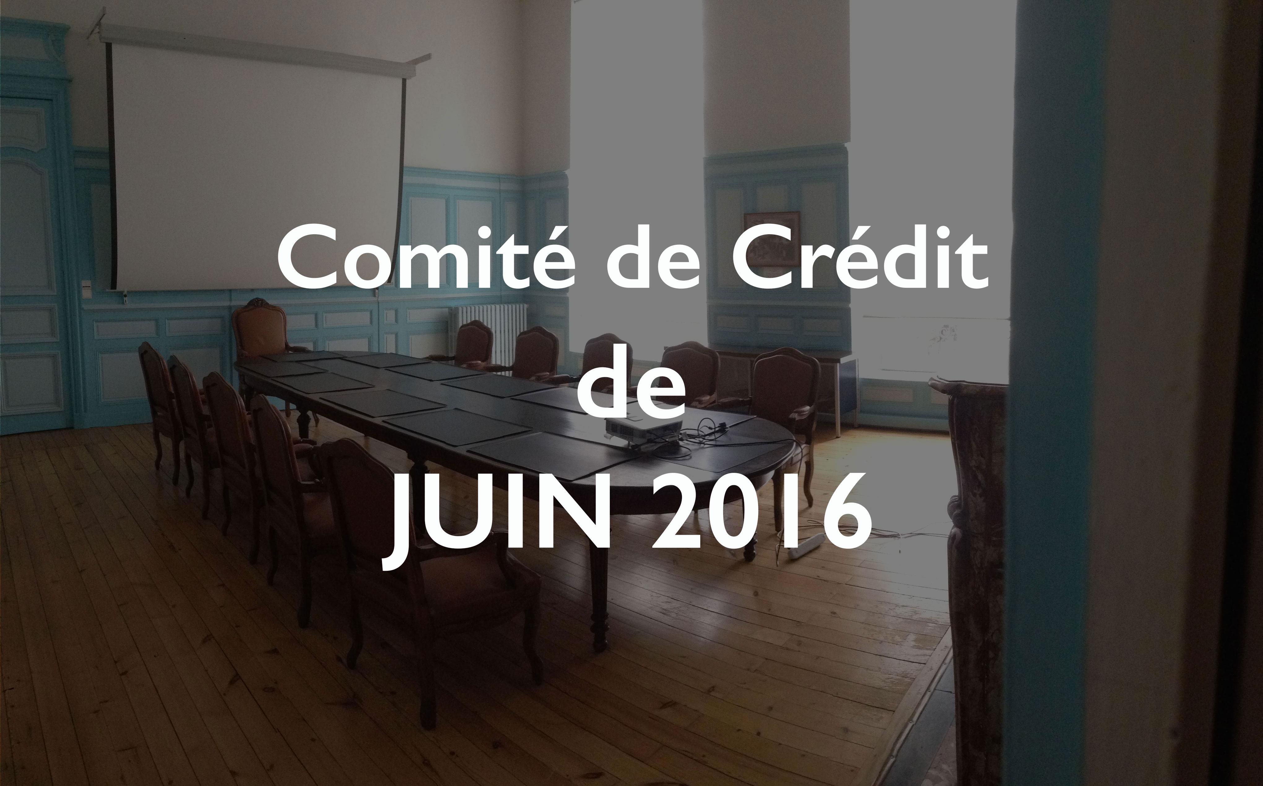 Illustration Comité de Crédit de juin 2016
