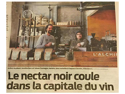 Illustration article Le nectar noir coule dans la capitale du vin