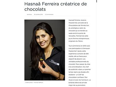 iamdivas et son article sur Hasnaâ Chocolats Grands Crus