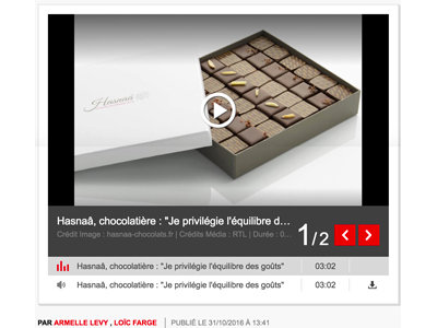 Photo de l'article RTL sur la chocolatière Hasnaâ