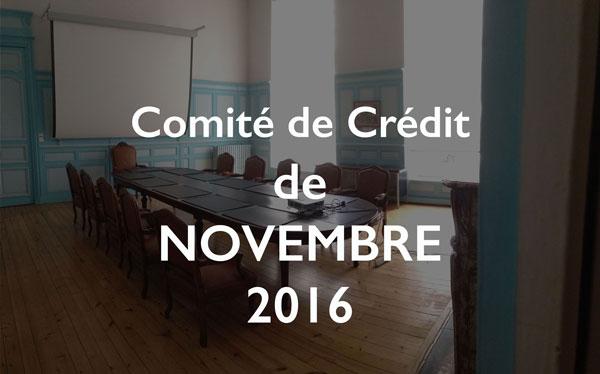 Illustration Comité de Crédit de Novembre 2016