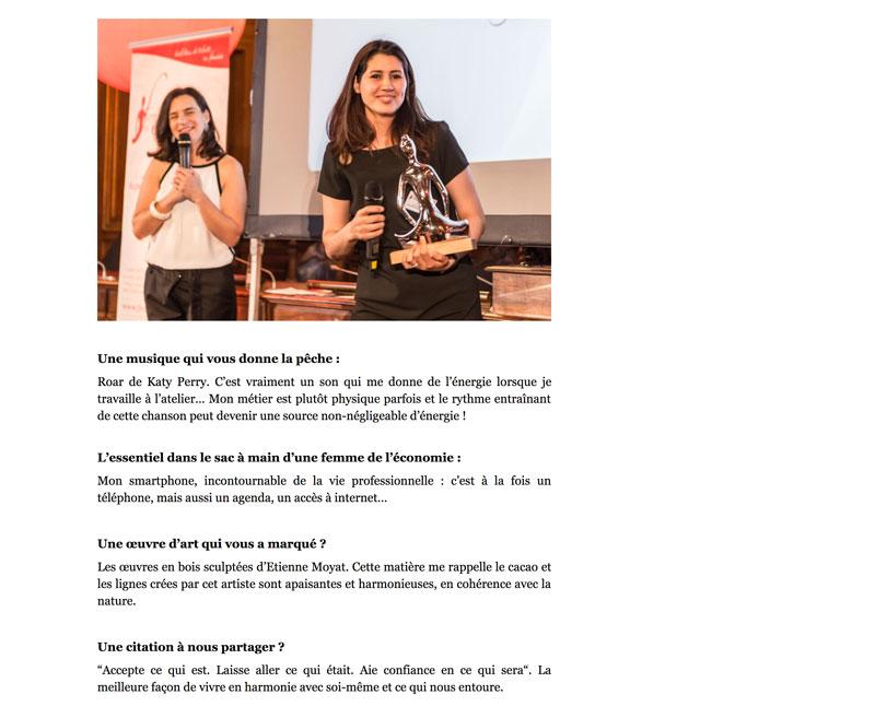 Notre créatrice Hasnaâ dans Forbes (photo 3)