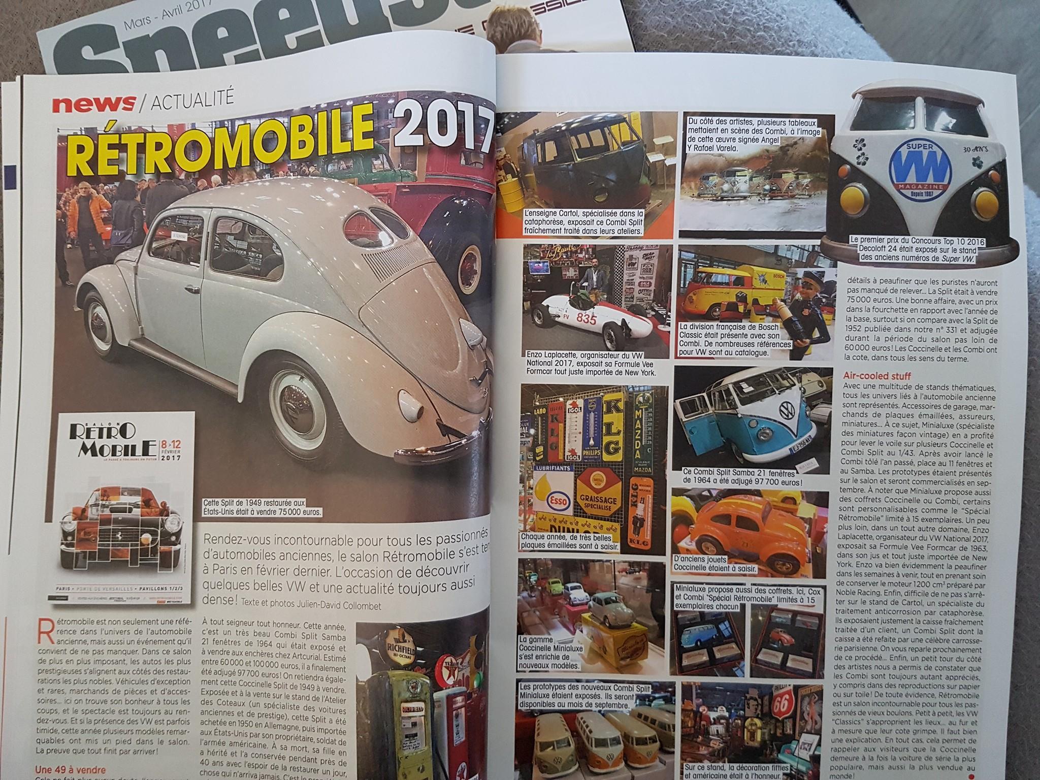 Decoloft 24 à nouveau dans le Super VW Magazine (photo 1er prix)