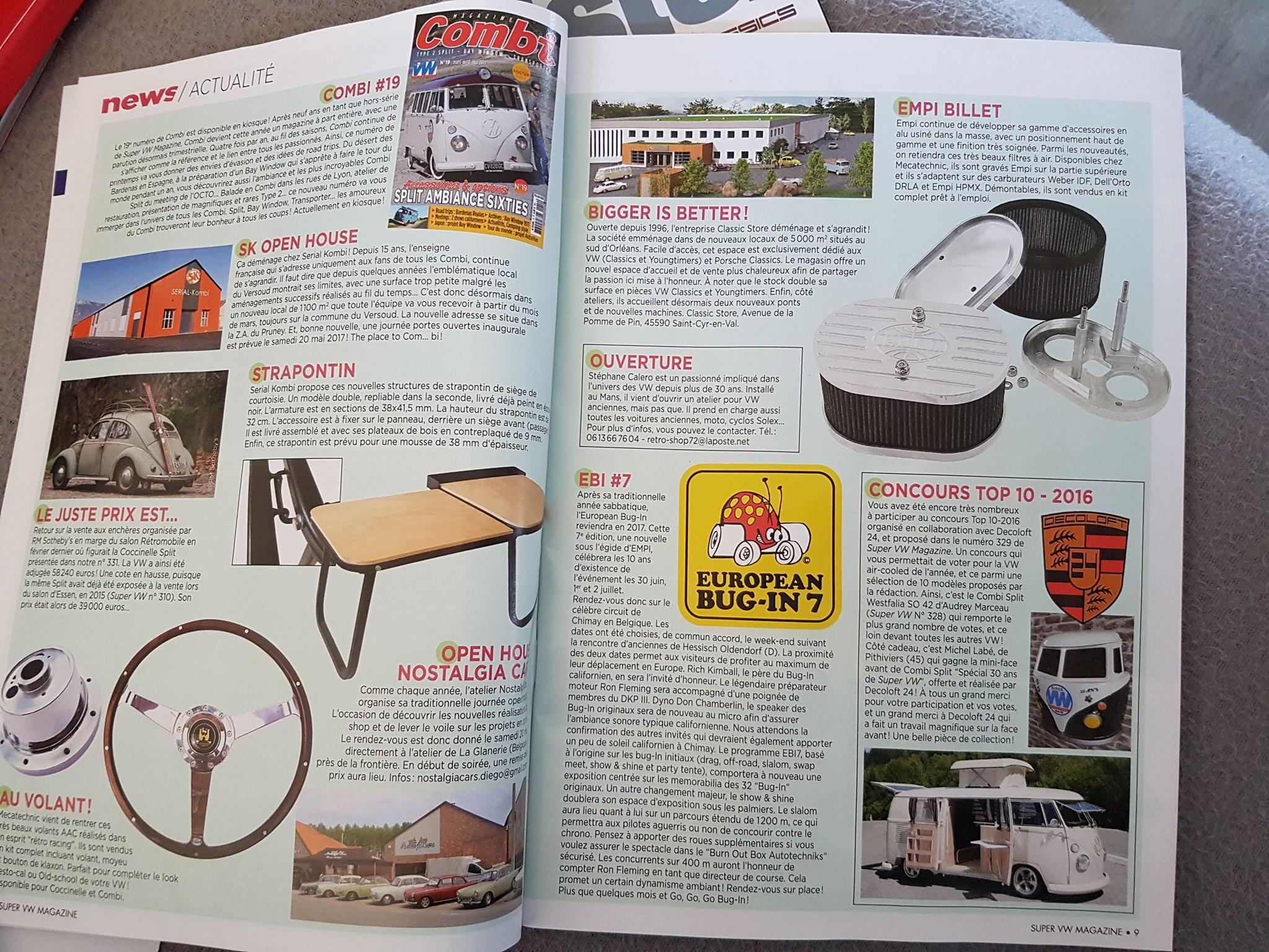 Decoloft 24 à nouveau dans le Super VW Magazine (article)
