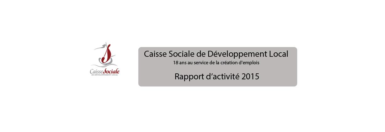 Illustration du rapport d'activité 2015