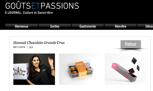 Hasnaâ Chocolats Grands Crus goûts et passions