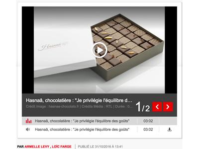 Photo de l'article RTL sur la chocolatière Hasnaâ