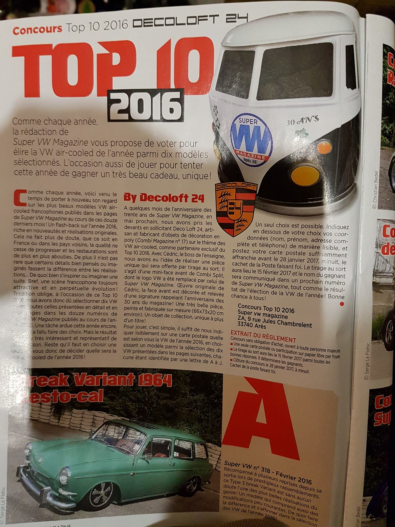 Decoloft 24 dans le Super VW magazine