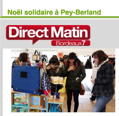 Illustration article de Bordeaux 7 sur le marché de Noël solidaire de Pey Berland