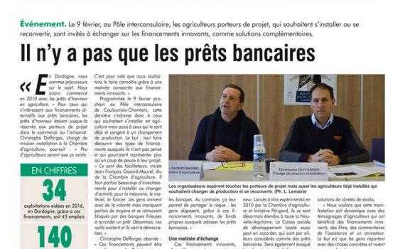 Le journal Réussir Le Périgord cite la CSDL dans un article